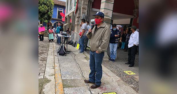 Antorcha reclama falta de obras a ayuntamiento de Huauchinango