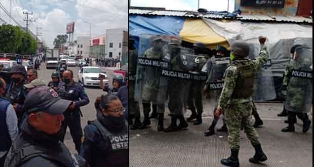 SSP y GN se enfrentan con comerciantes de La Cuchilla durante operativo