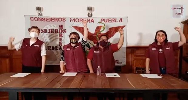 Morena lleva en Puebla 2,500 firmas para enjuicio expresidentes