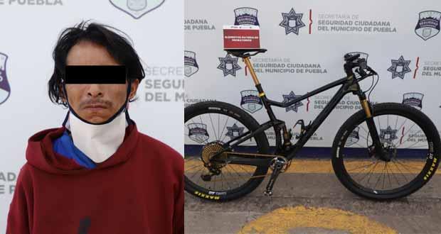 Policía municipal recupera bicicleta de montaña de 300 mil pesos