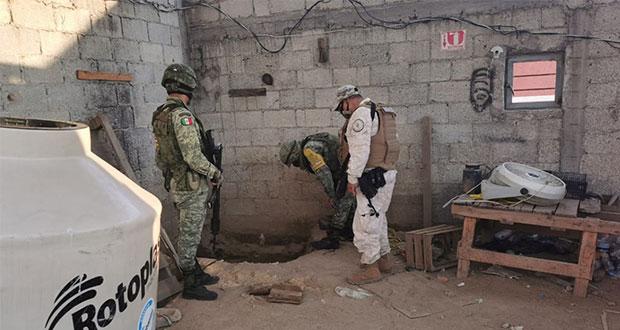 Sedena confirma hallazgo de huachitúnel en Puebla para robar gas LP