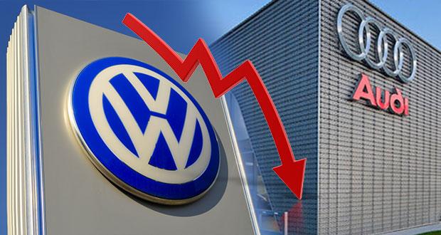Cae 14% y 17% exportación de VW y Audi, ambos con producción de -4% hasta marzo