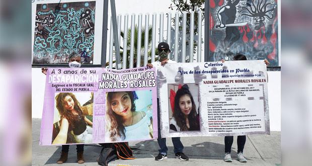 3 años después de que desapareció Nadia, FGE se compromete a avanzar en caso