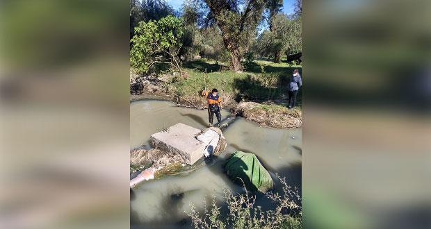 Captan caimán en el Atoyac, por Jardines Juan Bosco; PC lo busca.