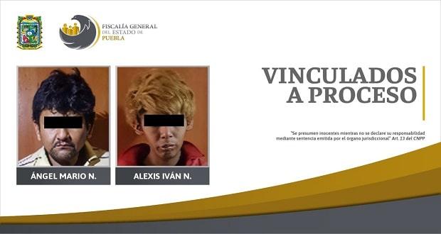 Dos sujetos van a prisión por presunto homicidio en Puebla capital
