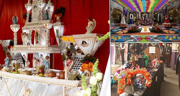 En Puebla, colocan ofrendas por Día de Muertos, ¿quieres verlas?
