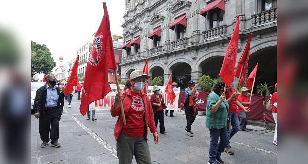 En marcha, Suntuap exige a Junta de Conciliación toma de nota