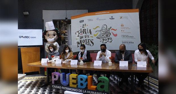 Por primera vez, Puebla capital será sede de la Feria de los Moles