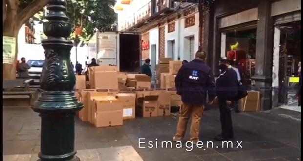 SAT embarga local de importaciones en calle 5 de Mayo