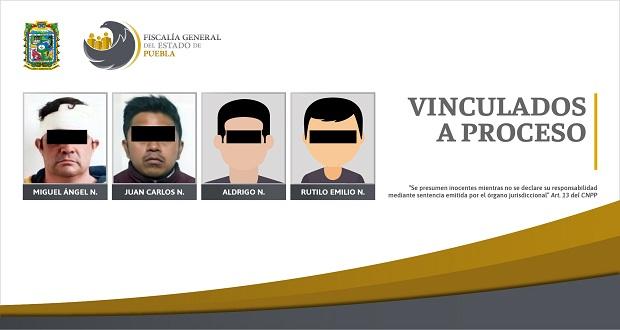Vinculan a proceso a cuatro hombres por violencia familiar en Puebla
