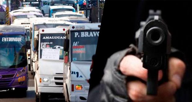 Robos en transporte público de Puebla aumentan 110% en septiembre: FGE