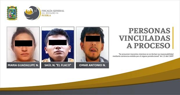 Van a prisión 3 personas detenidas con droga en Puebla