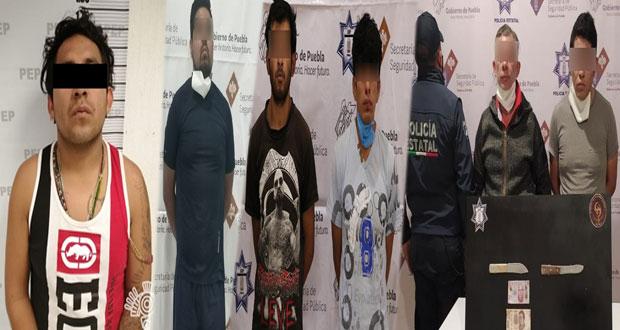 SSP captura a tres supuestos narcomenudistas y a dos asaltantes