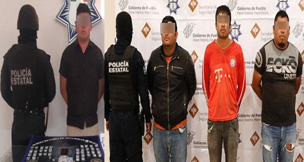 """SSP detiene a narcovendedor de """"El Moi"""" y a tres huachicoleros"""