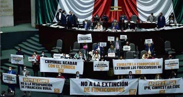 Aprueban reformas de Morena para eliminar 109 fideicomisos