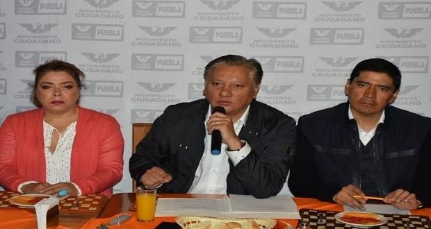 Movimiento Ciudadano irá solo en elecciones de 2021 en Puebla