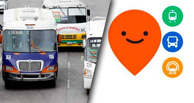 Puebla se une a Moovit, app para ver rutas del transporte público