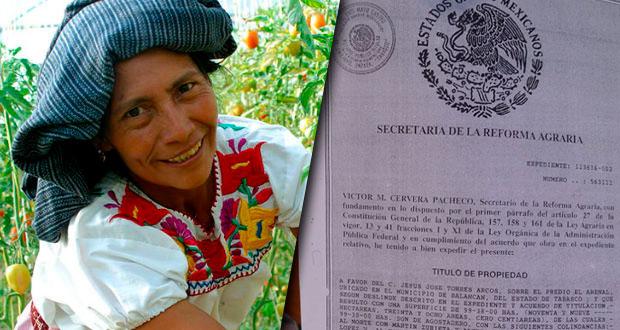 Sedatu lanza proyecto para que mujeres accedan a títulos agrarios
