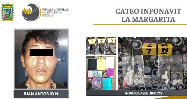 FGE catea domicilio en La Margarita y asegura droga; hay 1 detenido