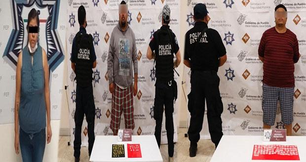 """SSP captura a 2 narcomenudistas y a operadora de """"El Chupón"""""""