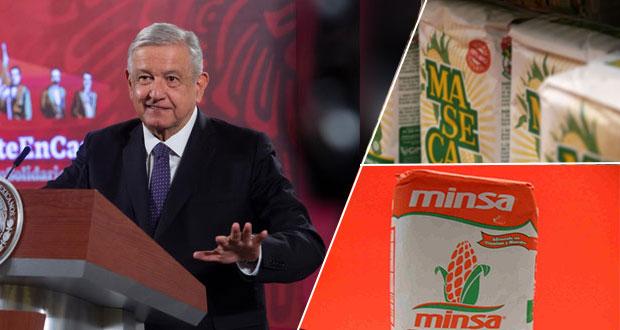 AMLO pide a Maseca y Minsa apoyar para que tortilla no suba en enero
