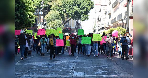Ambulantes de Fuerza 2000 se manifiestan y piden respeto de acuerdos