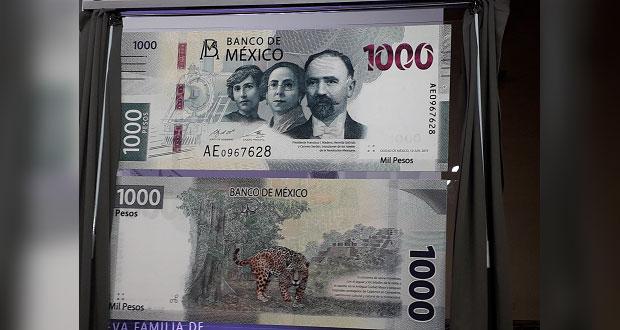 Carmen Serdán, Revolución Puebla, Billete de 1000 pesos,