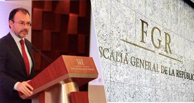 FGR desiste de solicitar captura contra Videgaray; seguirá indagando