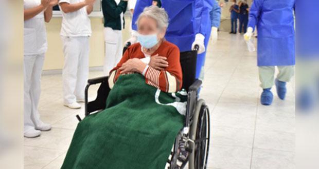 Leonor, de 97 años, vence al Covid con apoyo de médicos del IMSS