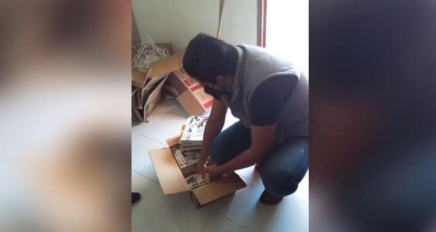 Presidente antorchista entrega libros de texto en Huitzilan