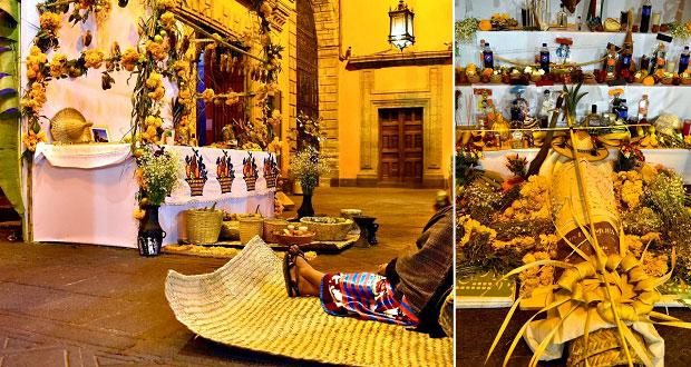 Ofrendas de Puebla, presentes en homenaje de AMLO a muertos por Covid
