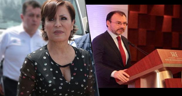 Robles carga contra Videgaray; lo acusa de desviar dinero a campaña de Meade