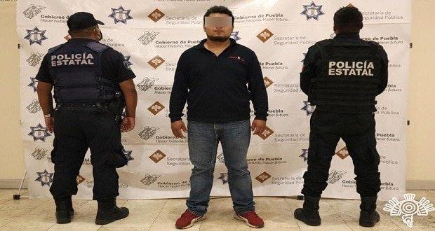 Detienen a supuesto huachigasero en Puebla capital