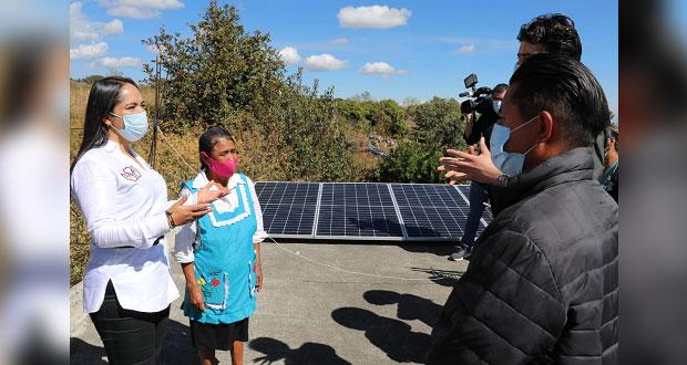 Benefician a familias con granja fotovoltaica en Atlixco