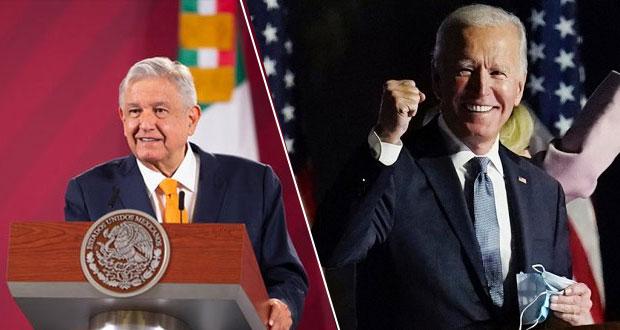 Por teléfono, AMLO y Biden acuerdan estrechar colaboración