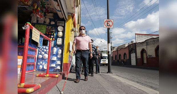 Calles de Puebla son obstáculos; pedimos participar en diseño: invidentes