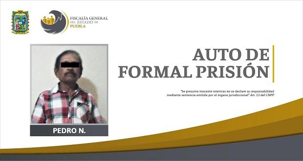Dan auto de formal prisión a sujeto por volar a su nieta