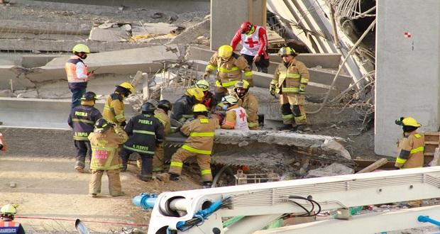 Colapsa estructura junto a Home Depot de la Atlixcáyotl; hay 2 muertos