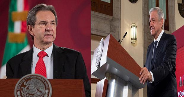 López Obrador propone a Esteban Moctezuma como embajador en EU