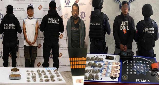 """SSP captura a 3 narcomenudistas; uno es de """"Los Sinaloa"""""""