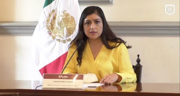 Baja 43% incidencia delictiva en Puebla capital en 2020, afirma Claudia Rivera