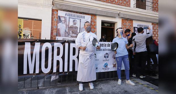 Cierran 290 restaurantes de Puebla por nuevo confinamiento; exigen apertura