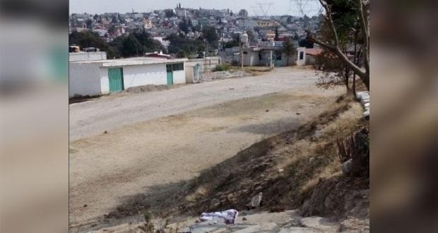 Colonia antorchista en Puebla capital pide alumbrado público