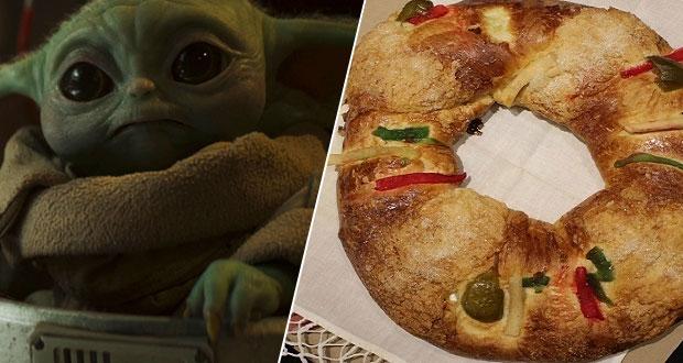 """Ya hay roscas con muñecos de """"Baby Yoda"""" en CDMX, SLP y Puebla"""