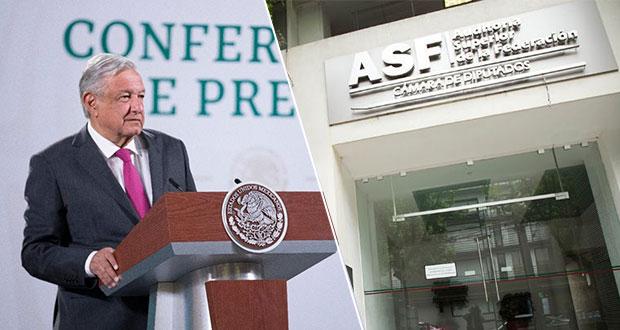 """AMLO pide al Congreso investigar a la ASF por """"errores""""; citan a Colmenares"""