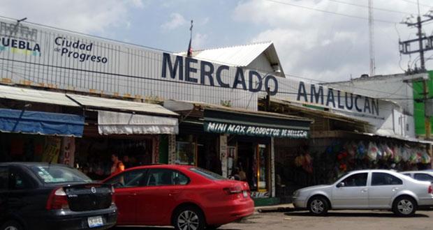 Gobierno estatal intervino para concretar obras en mercado Amalucan