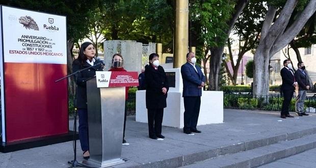 Se acabaron los excesos, dice Rivera en conmemoración de constitución