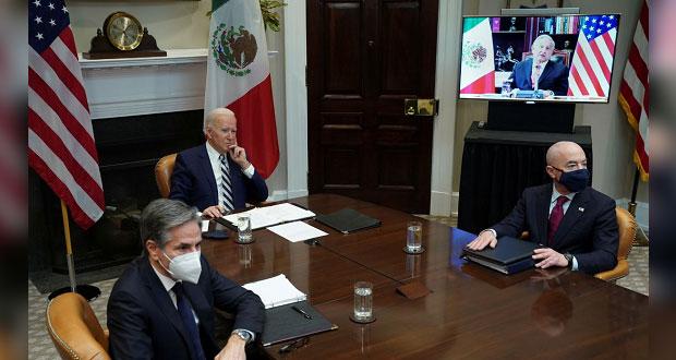 AMLO y Biden hablan sobre cooperar en migración; vacunas y energía, no