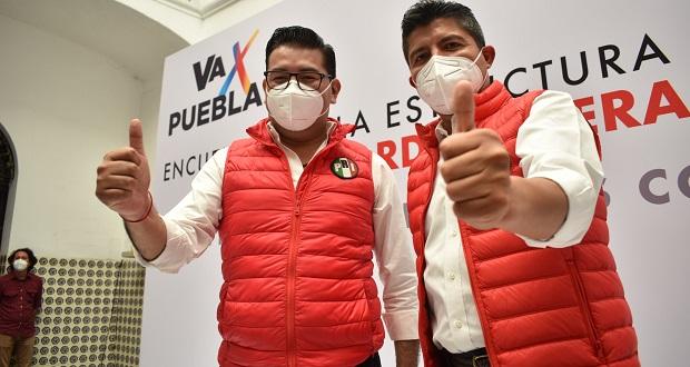 Eduardo Rivera es presentado en el PRI como candidato a alcaldía de Puebla
