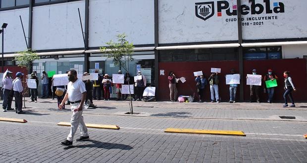 En protesta, exigen vecinos de Santa Catarina cancelar obra inmobiliaria